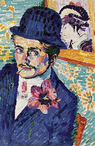 L'homme à la tulipe (Portrait de Jean Metzinger)