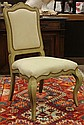 Provincial style paint decorated side chair