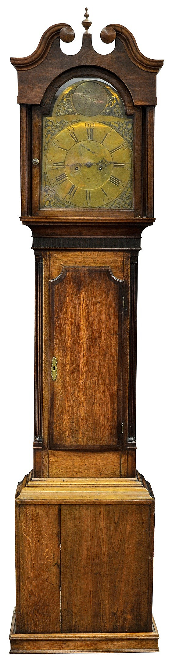 George III oak tall case clock