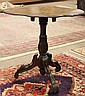Victorian inlaid tilt top table