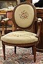 Louis XVI style fauteuil en cabriolet