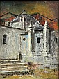 Painting, Louis Siegriest, Church in Mexico