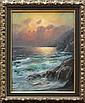 Painting, Alexander Dzigurski, Seascape