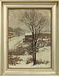Painting, Hal Robinson, Winter Street Scene