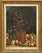 Painting, Still Life with Plant and Fruit, British School,1866