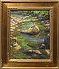 Painting, Charles Meunch, Boys Fishing