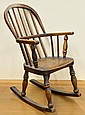 Windsor style childs rocker