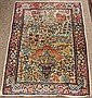 Pair of antique Persian Lavar Kermans, 3' x 4'7