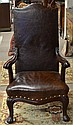 Continental style fireside chair