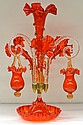Victorian style blown glass epergne