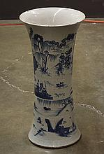 Chinese Blue and White Beaker Vase
