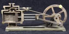 Cutaway demonstration model of a steam cylinder