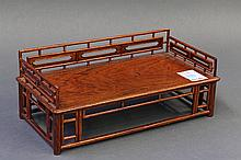 Chinese Wooden Miniature Day Bed