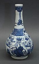 Chinese Blue-and-White Stick Neck Vase