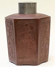 Chinese Zisha Large Tea Caddy