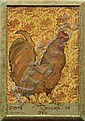 Painting, Ira Yeager, Rooster, Ira Yeager, Click for value