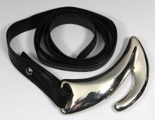 Tiffany & Co. Elsa Peretti sterling silver and leather belt