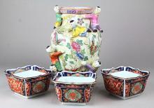 Chinese Vase and Japanese Bowls