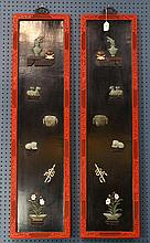 Two Chinese Lacquer Overlay Panels
