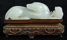 Chinese White Jade Dogs