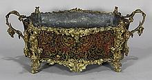 Napoleon III ormolu mounted and stained horn jardiniere
