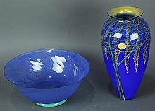(lot of 2) Art glass group, consisting of a Richard Satava