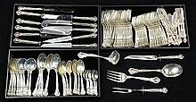 American Gorham partial sterling silver flatware service in the Chantilly pattern, 1895,104.39 troy oz.