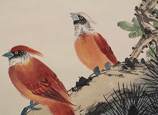 Chinese Scroll, Yan Bolong (after), Birds