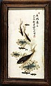 Four Chinese Porcelain Plaques, Fish