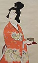 Japanese Painting of Tea Ceremony, Hanging Scroll