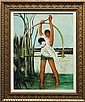 Painting, Boy with Tropical Bird