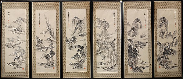 Korean Six Panel Screen