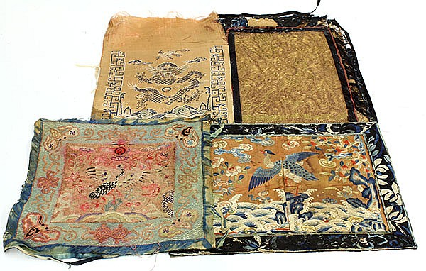 Four Chinese Textile Fragments