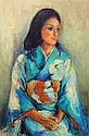 Painting, Portrait of a Woman in a Kimono
