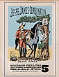 Lithographic poster, Jesse James Combination