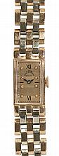 Lady's Retro Paul Ditisheim Solvil 14k white and rose gold wristwatch