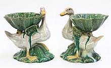 Pair Chinese Duck Form Vessels