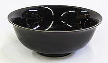Chinese Black Porcelain Bowl