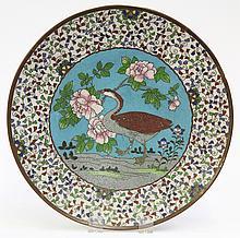Japanese Enameled Cloisonne Plate