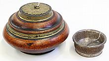 Two Tibetan Burlwood Bowls