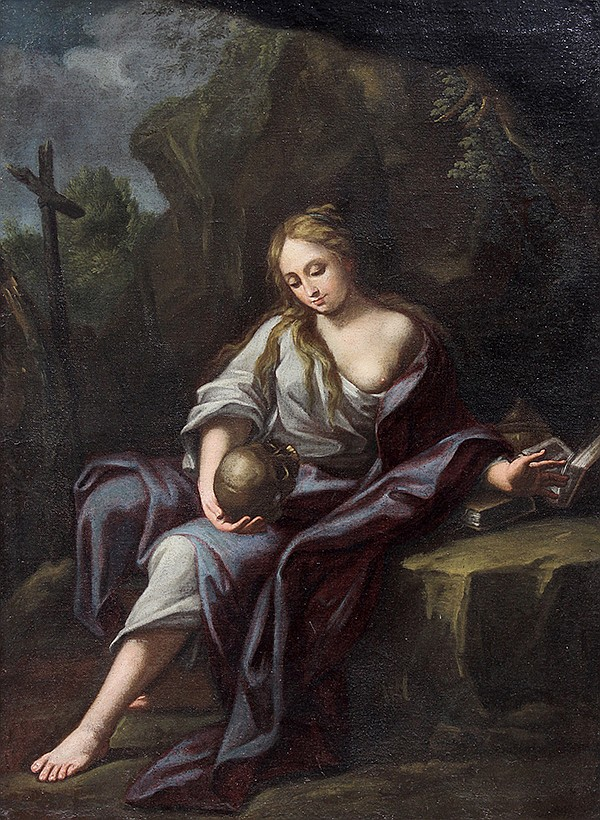 European School (18th century), Penitent Magdalene, oil on canvas