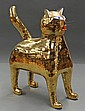 Leslie Safarik Bay Area Figurative ceramic cat sculpture