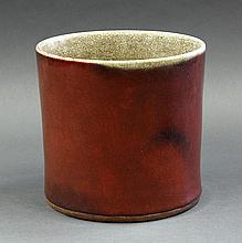 Chinese Red Glaze Brush Pot