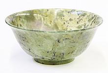 Chinese Green Hardstone Bowl