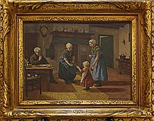 Dutch porcelain plaque by Rozenburg, entitled