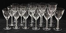 (lot of 16) Lalique, France crystal stemware group executed in the Phalsbourg pattern