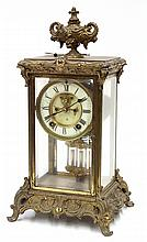 Ansonia crystal regulator mantle clock