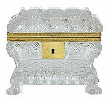 Baccarat crystal jewel casket