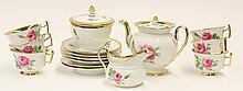 (lot of 9) Meissen porcelain tea service