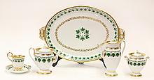(lot of 6) Meissen porcelain individual hot beverage service